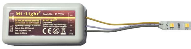branchement contrôleur blanc variable sur ruban
