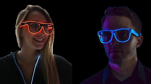 0060c721fa46a Ces lunettes lumineuses sont du plus bel effet dans le noir.