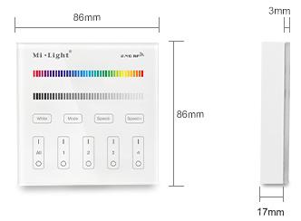 dimensions commande RGB murale multi zones