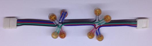 montage avec des mini connecteurs électriques